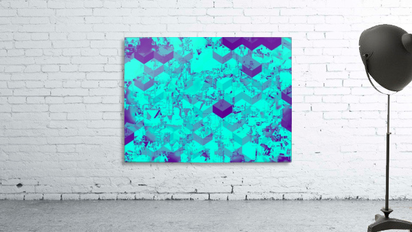 geometric square pattern abstract in blue