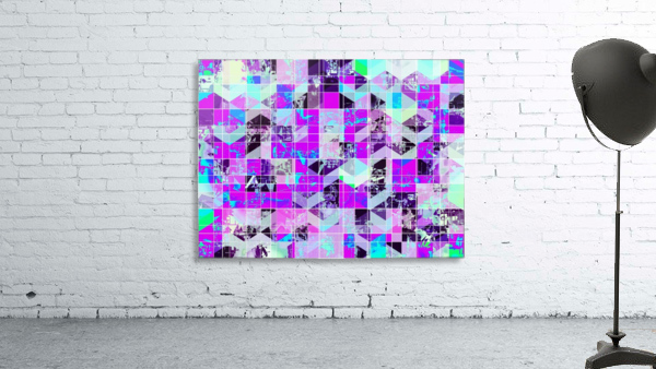 geometric square pattern abstract in purple blue