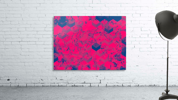 geometric square pattern abstract in pink blue