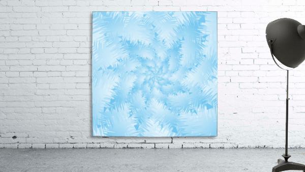 Blue Snowflake Spiral
