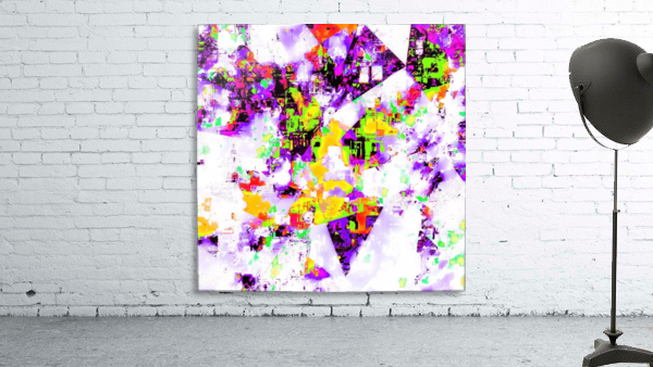 geometric triangle pattern abstract in purple yellow green