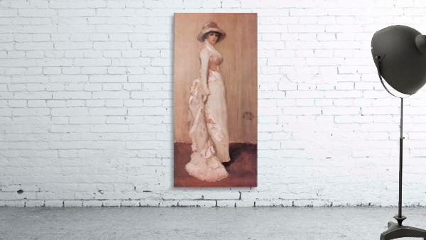 Nocturne in rose and grey by Whistler