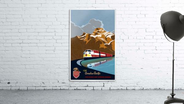 Retro CP rail travel poster