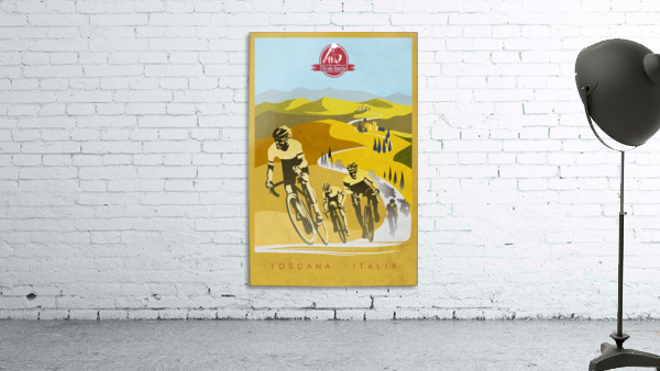 retro Strade Bianche cycling poster