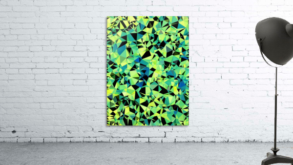 geometric triangle pattern abstract in green blue black