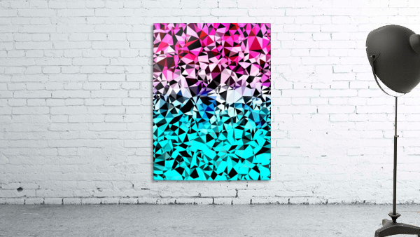 geometric triangle pattern abstract in pink blue black