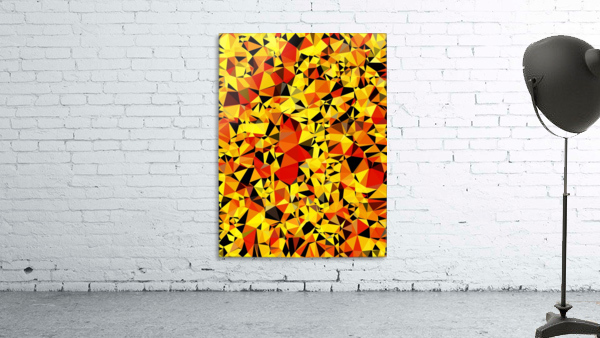 geometric triangle pattern abstract in orange yellow red