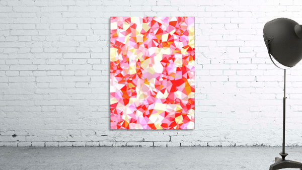 geometric triangle pattern abstract in pink red orange