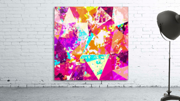 geometric triangle pattern abstract in pink blue purple