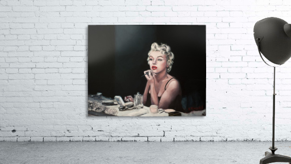 Marilyn backstage  oil painting  portrait 1