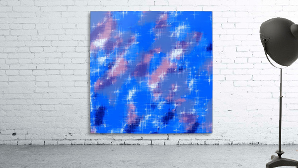 painting texture abstract background in blue pink