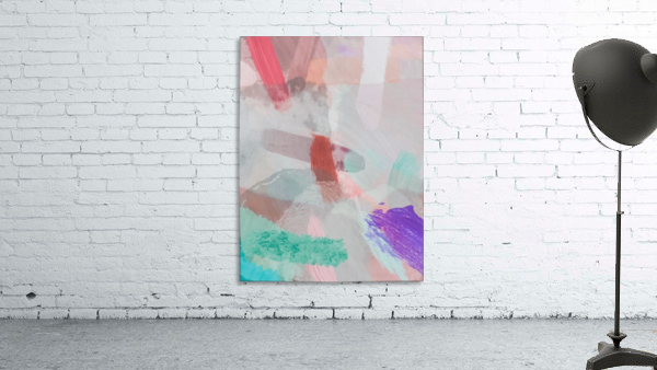 brush painting texture abstract background in red pink purple green