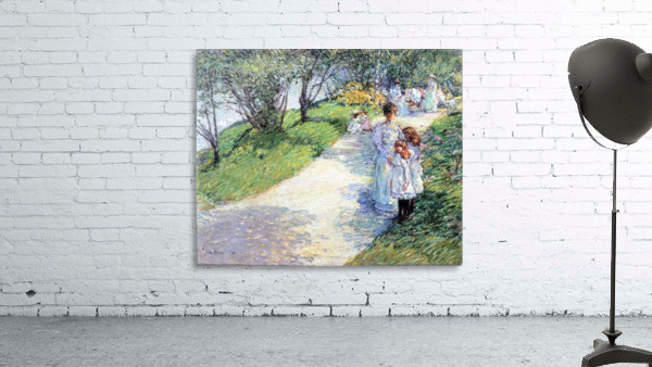 In Central Park by Hassam