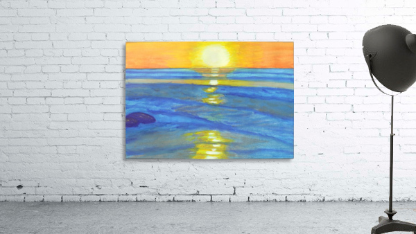 Sunset and ocean waves