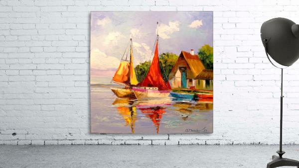 Sailboats near the shore