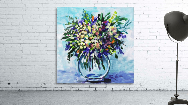 Impressionistic Flowers Burst Of Beauty