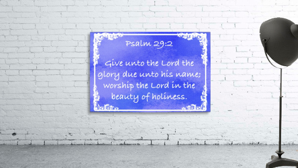 Psalm 29 2 8BL