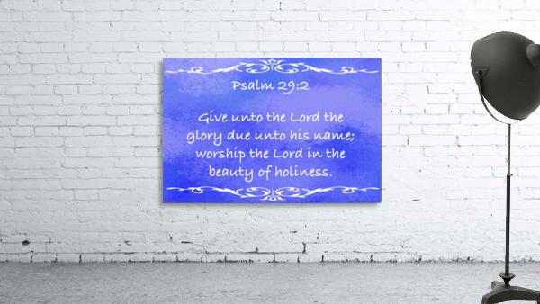 Psalm 29 2 3BL