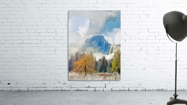 Half Dome from Meadow Digital Painting 52 70 200px