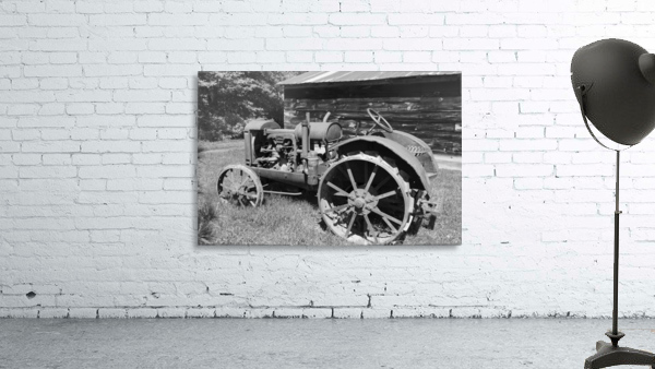 McCormick-Deering gasoline tractor 2 B&W