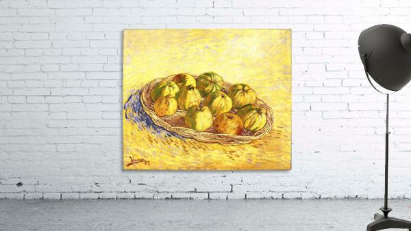 Still life with apple basket -2- by Van Gogh