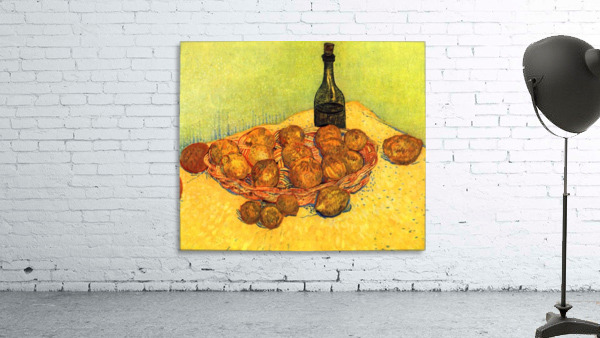 Still Life with Bottle, Lemons and Oranges by Van Gogh