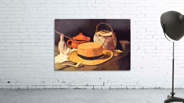 Still Life with Pipe and Straw Hat by Van Gogh