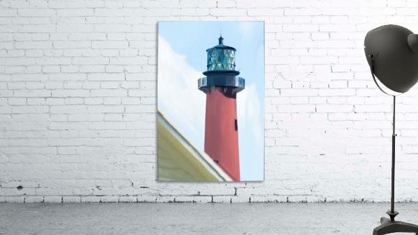 Jupiter Inlet Lighthouse Digital Painting Portrait 52 70 200px