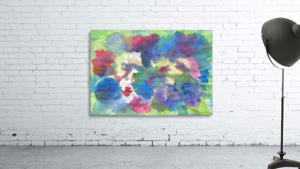 Watercolor abstraction with a blurred floral pattern