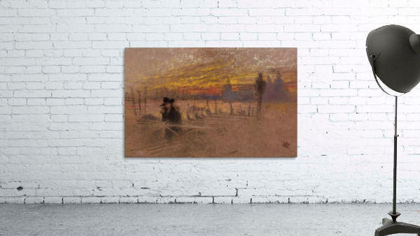 Sunset Red and Gold by Whistler