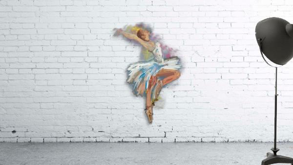 Ballet dancer painting art