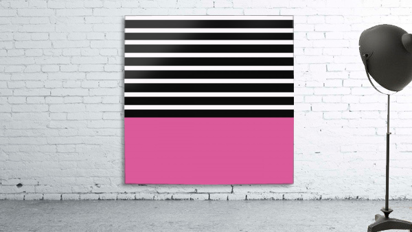 Black & White Stripes with Cranberry Patch