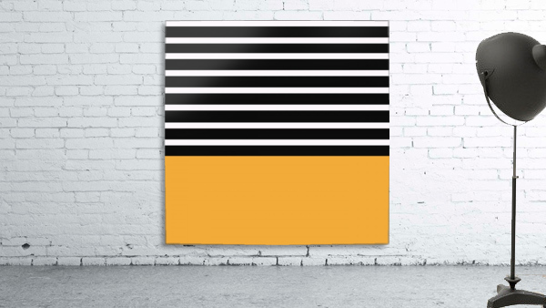 Black & White Stripes with Honey Patch