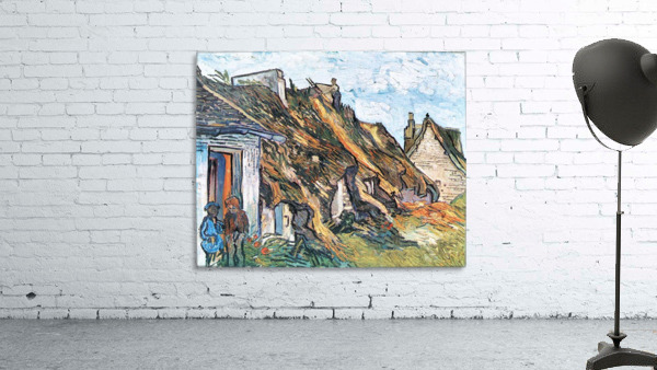 Thatched hut in Chaponval by Van Gogh
