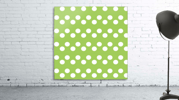 Dark Olive Green Polka Dots