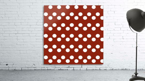 Crimson Polka Dots