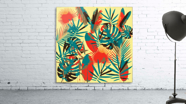 Colorful Abstract Tropical Leaves