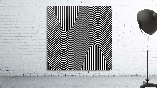 Black and White Abstract Geometric Design 1