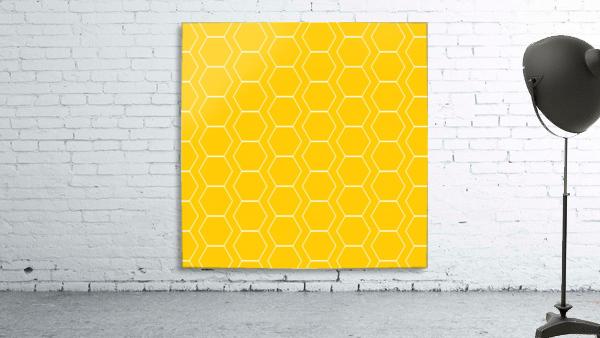 Yellow  White Hexagen