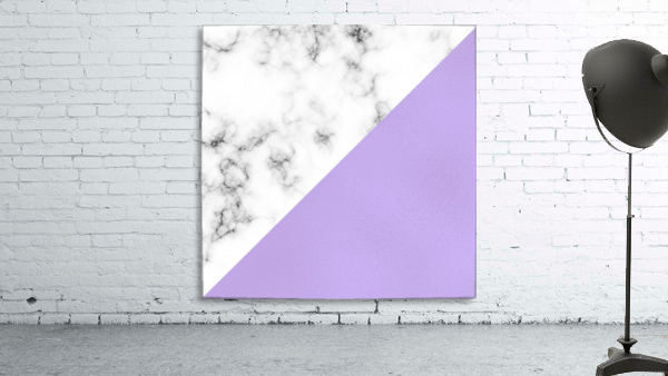 ABSTRACT MODERN PURPLE GLASS MARBLE