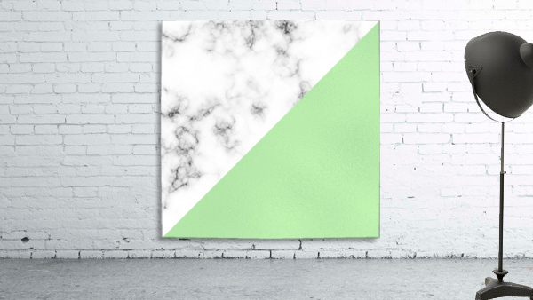 ABSTRACT MODERN GREEN GLASS MARBLE