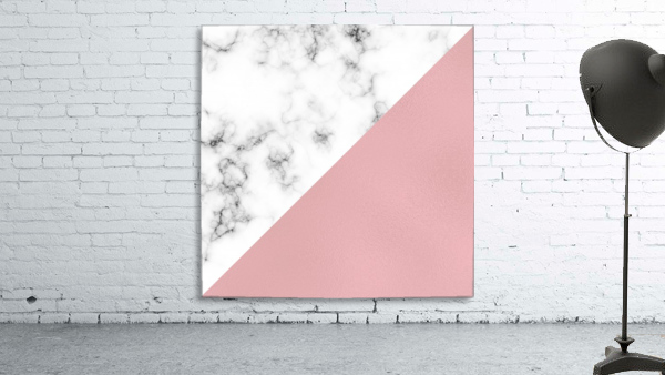 ABSTRACT MODERN ROSE GLASS MARBLE
