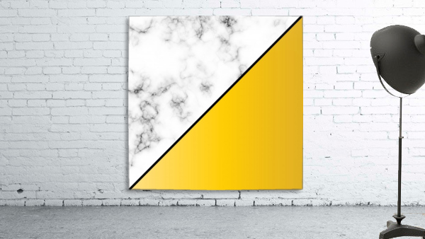 ABSTRACT MODERN YELLOW MARBLE