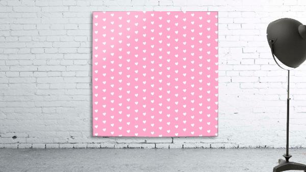 Carnation Pink Heart Shape Pattern