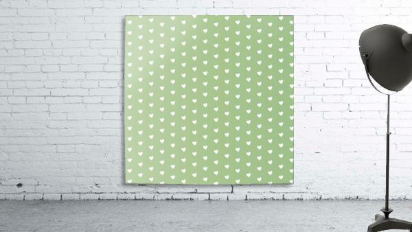 Green Blush Heart Shape Pattern