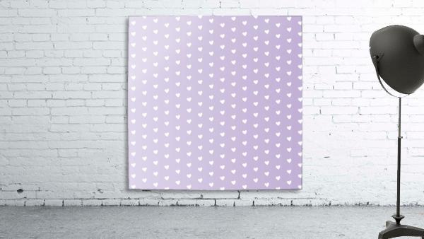 Spring Purple Heart Shape Pattern