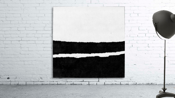 Black White Minimal Abstract Painting Nr.102