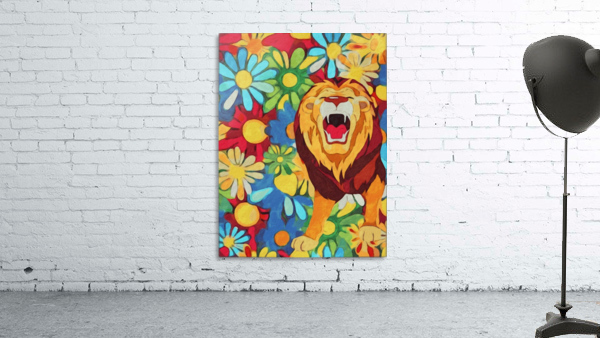 Lion and Flowers Fantasy