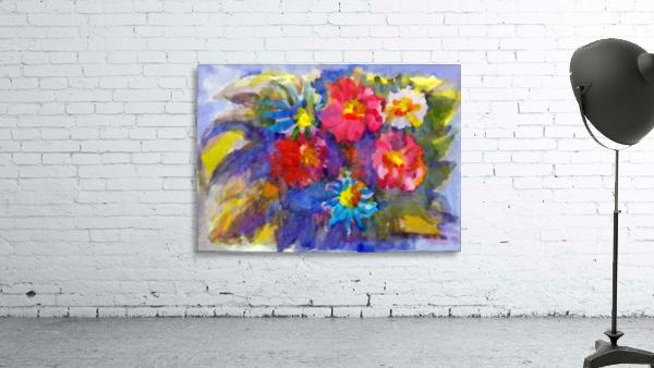 Vivid flowers in the garden