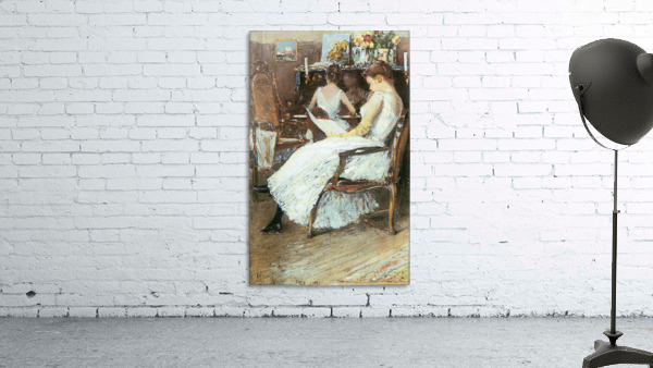 Mrs. Hassam and her sister by Hassam